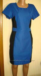 Платье трикотажное синее миди Papaya размер 46, M