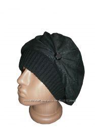 Женская шапка берет натуральная замша