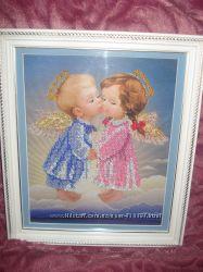 Вышивка бисером ручной работы Ангелочки и Лесное танго