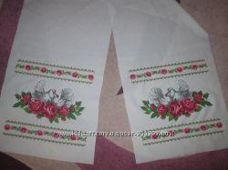 Свадебный рушнык весільний рушник вышыт бисером