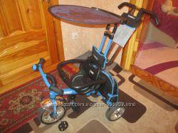 Детский трехколесный велосипед Profi Trike синий