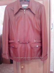 Куртка кожа р. 50-52 бу