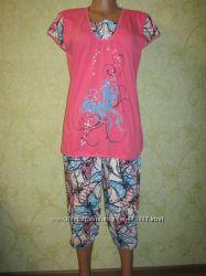 Пижама женская кофта и бриджи. р. 52