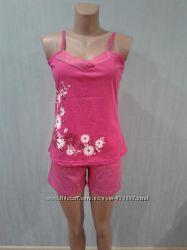 Пижама женская Цветыр. 42  Майка и шорты