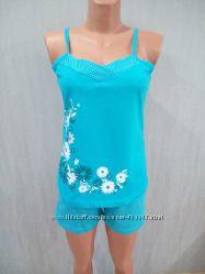 Пижама высоко качества Цветы р.  48