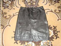 Натуральная кожаная юбка