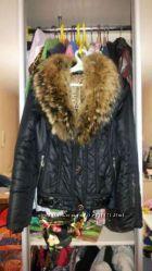 Продам женскую куртку с натуральным мехом