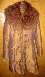 Модное пуховое пальто с меховым воротником Sunny Collection