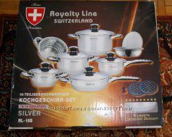 Набор Кастрюлей и Сковородка Royalty Line, Швейцария  16предметов