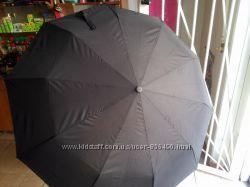 Зонт полуавтомат черный Rainbow, красивый и качественный