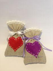 Подарочные мешочки, для конфет. подарков, саше, кофе чай, специи