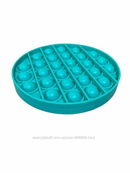 Игрушка  антистресс Pop It Селикон круг Turquoise и кружка в подарок