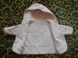 курточка двухстороняя для девочки 0-6мес