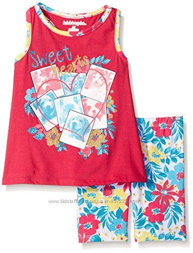 Летние костюмы на девочек 18-24м, 3, 4, 5 лет из США - 10 расцветок