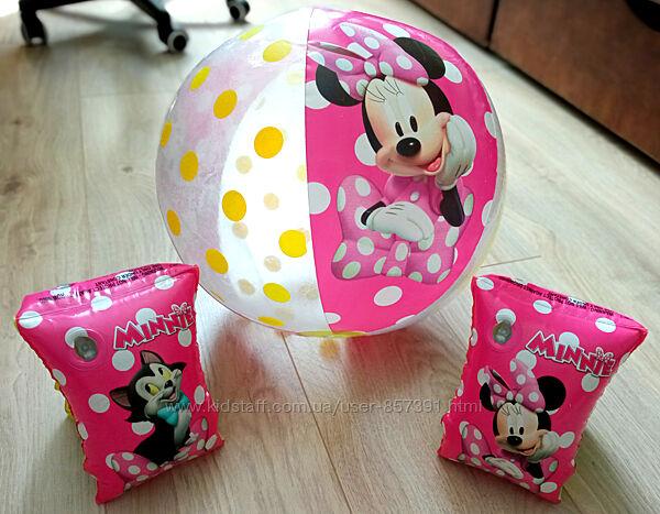 надувные нарукавники для плавания, надувной мячик Minnie Mouse Bestway