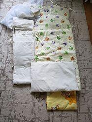 Постельное в кроватку балдахин защита бортики