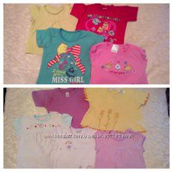 Класнючі футболочки для дівчинки 0-6 місяців дешево NEXT