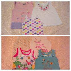 Прекрасні майочки для дівчинки 0-6 місяців дешево CHEROKEE babybaby
