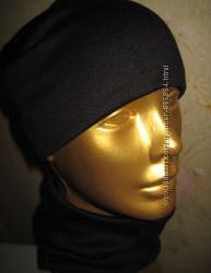 комплект шапка и шарф - хомут