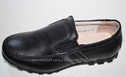 Школьные кожаные туфли-мокасины  33, 34 и 37-й размер