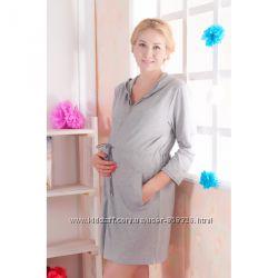 25004 Халат с капюшоном будущим мамам размеры