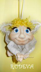 Кукла-попик кукла на удачу ручная работа