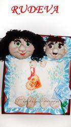 Картина куколок на удачу, любовь. ручная работа