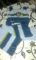 Продаю зимний комплект шапка шарф для мальчика