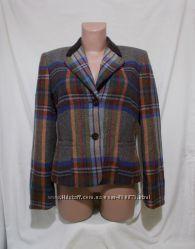 Короткая куртка жакет разноцветная шерсть Hucke 46-48р