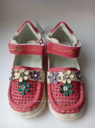 Распродажа. Туфли-мокасины для девочки 22-27 р.