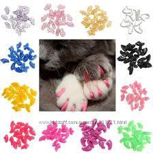 Яркие накладки  Антицарапки для кошек, 25 цветов