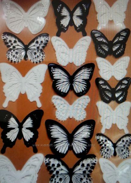 3D Бабочки-наклейки для украшения дома