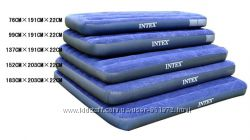 Надувные велюровые матрасы INTEX в ассортименте