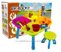 Песочный столик с набором и стульчиком, Kinderway