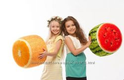 Мягкий надувной пуфик Fruit Pouf Арбуз, Апельсин от Danko Toys, Украина