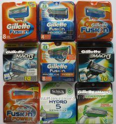Gillette, Schick. Картриджи, кассеты, лезвия, станки. Только оригинал. США