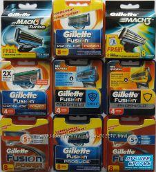 Оригинал Gillette и Schick. США, Германия, Польша. Лезвия и станки.