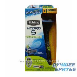 Бритвенный станок Schick HYDRO 5 Power Select с 2-мя картриджами  cap