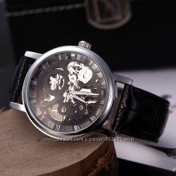 Механические часы Winner Skeleton Classic Black