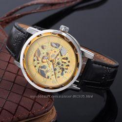 Механические часы Winner Hollow Gold