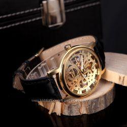 Механические часы Winner Skeleton Classic Gold