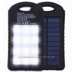 Портативное зарядное устройство Power Bank UKC 10800 mah 2в1 SolarLed