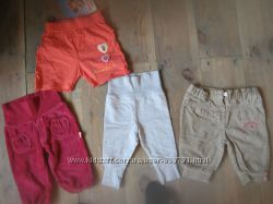Штаны и шорты фирменные 0-6 мес