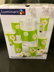 Luminarc, набор для сока и воды, 7 предметов, новый