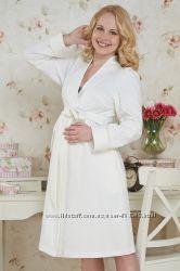 Халат Брунико молочный и розовый и для беременных - Бамбиномания