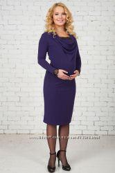 Платье Кампелло черное и фиолет для беременных и кормящих Бамбиномания