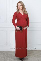 Платья в пол для беременных и кормящих Лимбиате и Олбия от Бамбиномания