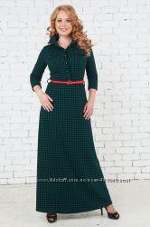 Стильные платья рубашки в пол для кормящих Бамбиномания
