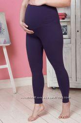 Лосины леггинсы для беременных Фельтре черные и фиолет Бамбиномания
