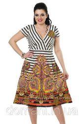 Летнее хлопковое платье сарафан Indiano, размеры 46-48-50, скидка